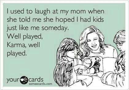 Yup - fair play to Mummy Karma