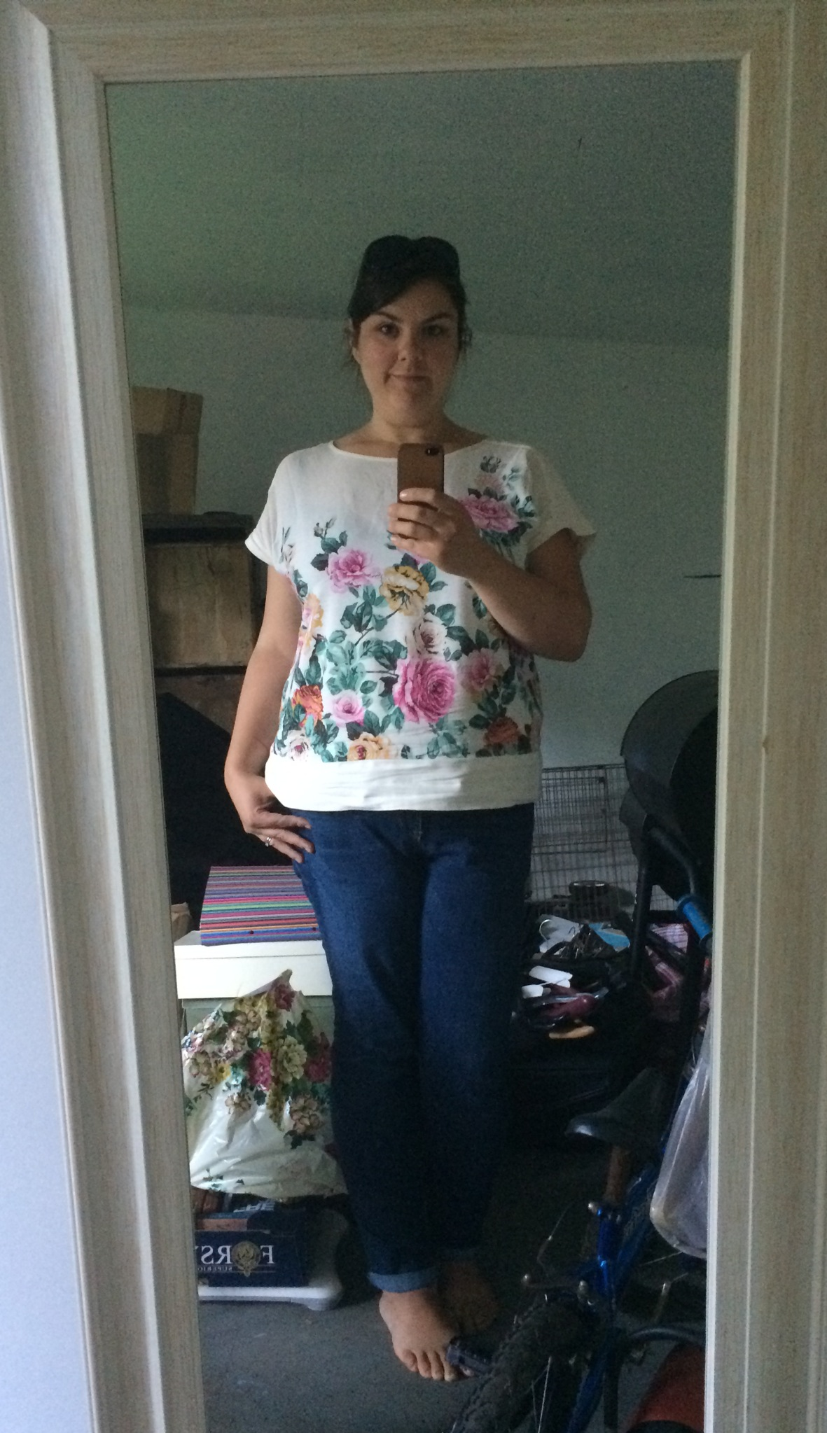 'Rose' Top Joules Size 16