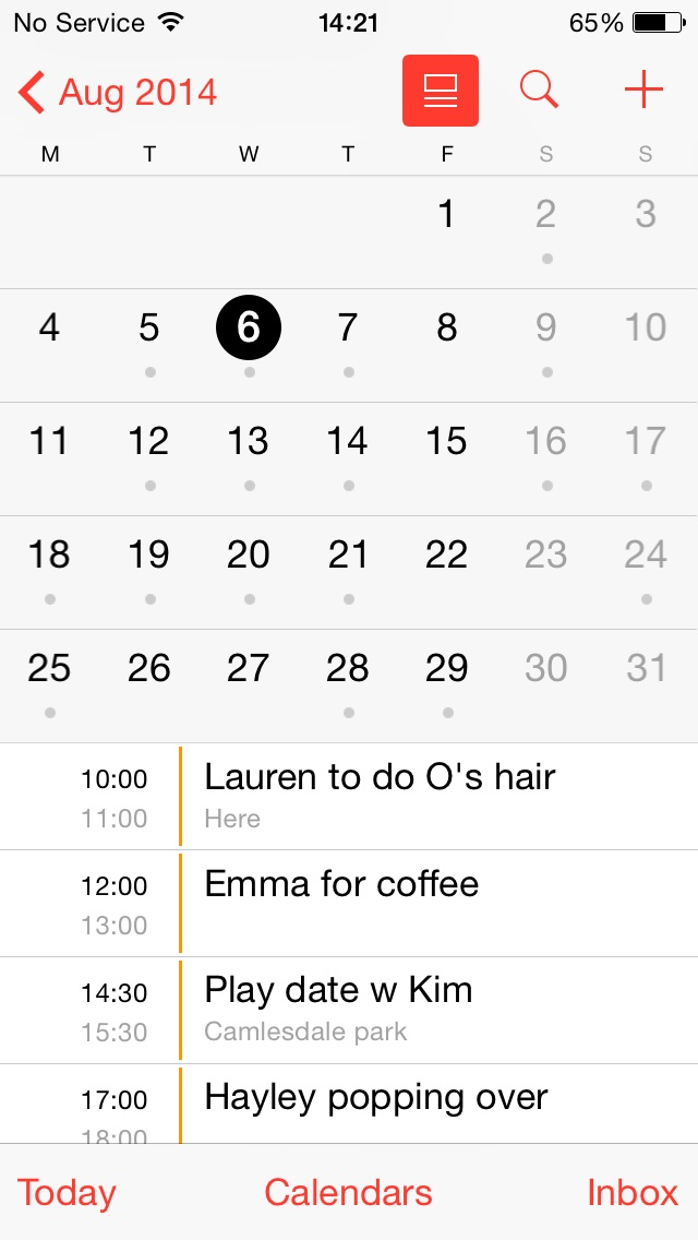 Some days were busier than others. But if it doesn't go in the diary it doesn't happen!