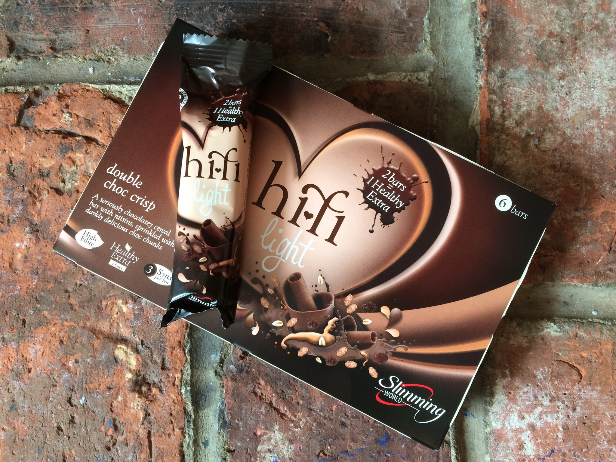 Double Choc Crisp Hi-Fi Light - 3 syns each or 2 bars for a HEB