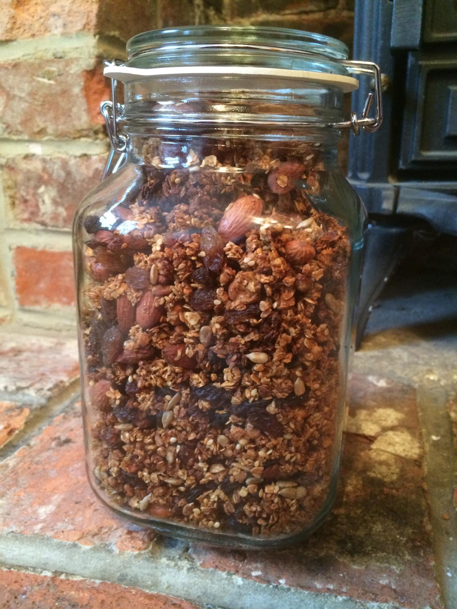Granola - Nigella recipe of course!