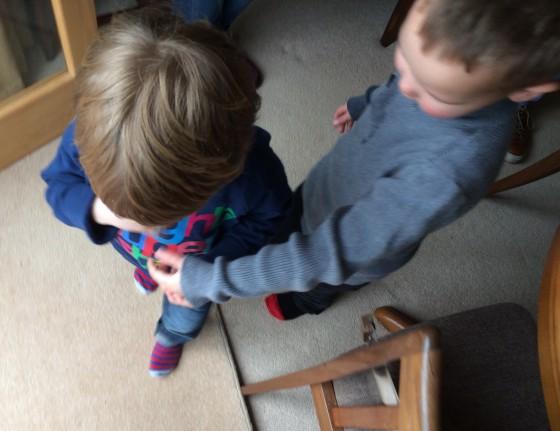 Holding hands partner in crime