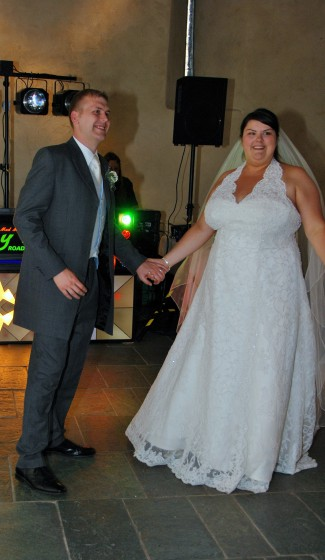 """Taking to the dance floor for our first dance to the beautiful  """"Come Away With Me"""" by Norah Jones"""